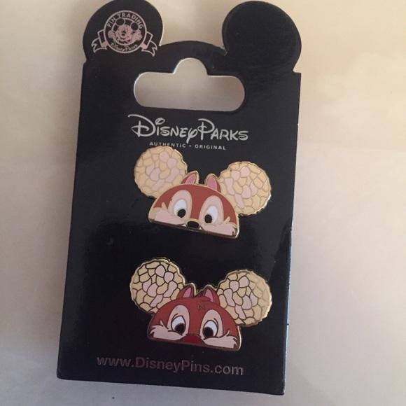 FINAL SALE Disney Pin Set Chip & Dale MickeyEars
